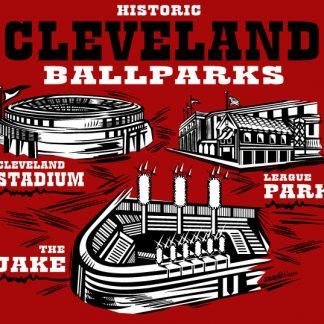 Cleveland Ballparks Red