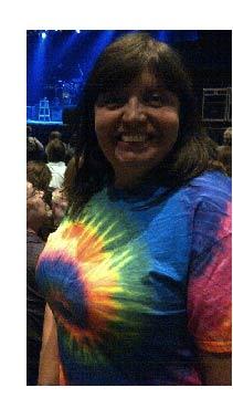 Paula wears her tye dye